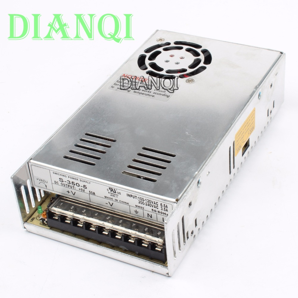 DIANQI power suply 5v 350w ac to dc power supply ac dc converter high quality S-350-5 led power suply 13 5v 201w ac to dc switching power supply ac dc converter high quality s 201 13 5v free shipping