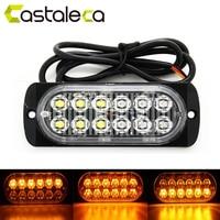 Castaleca Car Truck Trailer Side Marker Strobe Lights Amber 12 LED Flashing Warning Lamp 19 Flash
