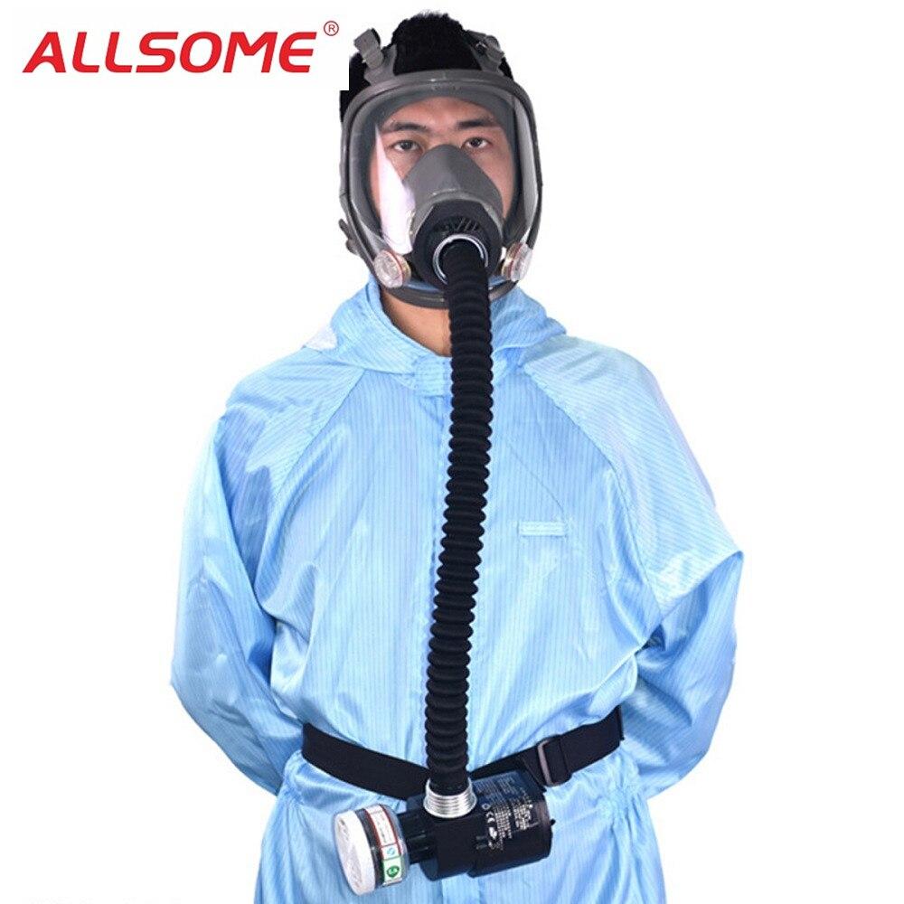 ALLSOME Электрический постоянный поток подаваемого воздуха Fed полный уход за кожей лица противогаз спрей живопись инструмент сварки шлем респ