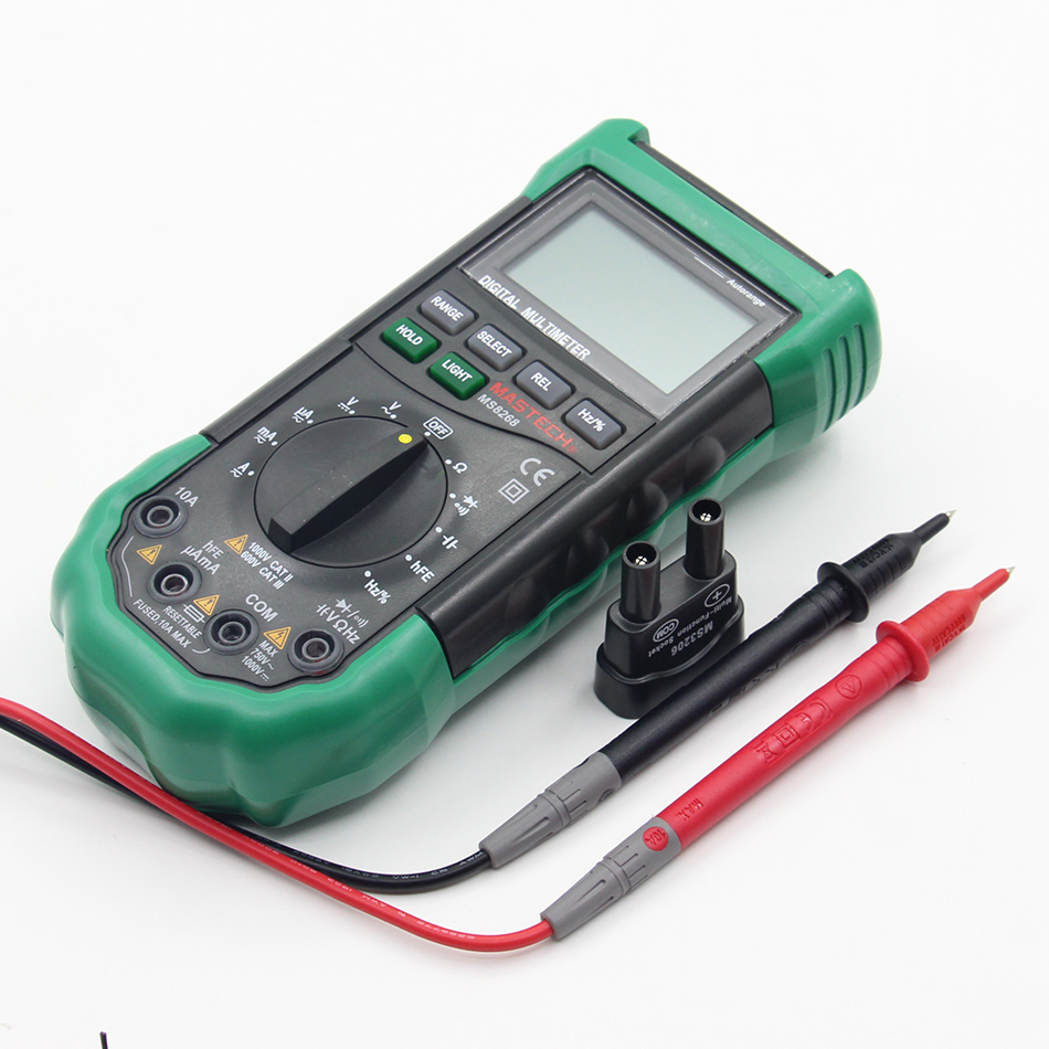 Mastech MS8268 Auto Range Digital Multimeter Full protection ac/dc ammeter voltmeter ohm Frequency electrical tester diode test an8009 auto range lcd digital multimeter full protection ac dc voltmeter ammeter ohm capacitance ncv electrical tester