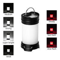 ITimo Portable LED Tent Lanterns 7 Modes Flash Outdoor Camping Lamp USB Rechargeable Battery Super Bright