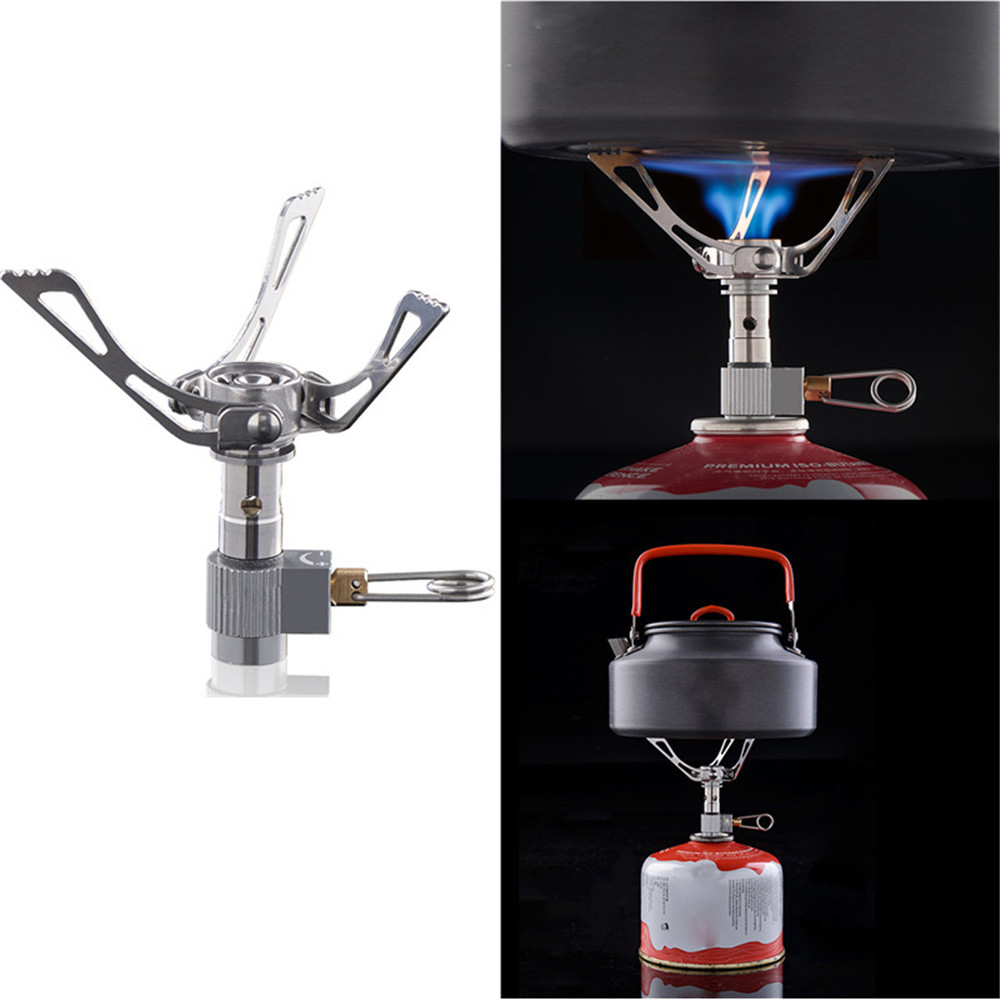 Shisha Pipes Accessories Ultralight Folding Titanium Alloy Cooking Burner Gas Stove