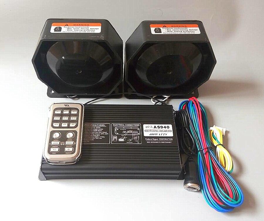 Étoile supérieure double ton 400 W voiture sans fil sirène amplificateurs alarme + 2 unités 200 W haut-parleur/tweeter pour police ambulance voiture d'incendie