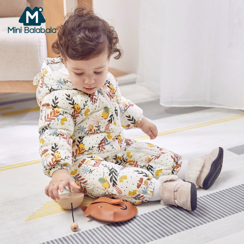 High Quality Baby Rompers Winter Children Winter Thick Cotton Warm Clothes Jumpsuit Children Outerwear Baby Wear