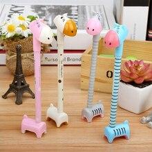 Корейский Дизайн шариковая ручка с бесплатные подарки Ластики Жираф шариковая ручка офис Пластик шариковая ручка