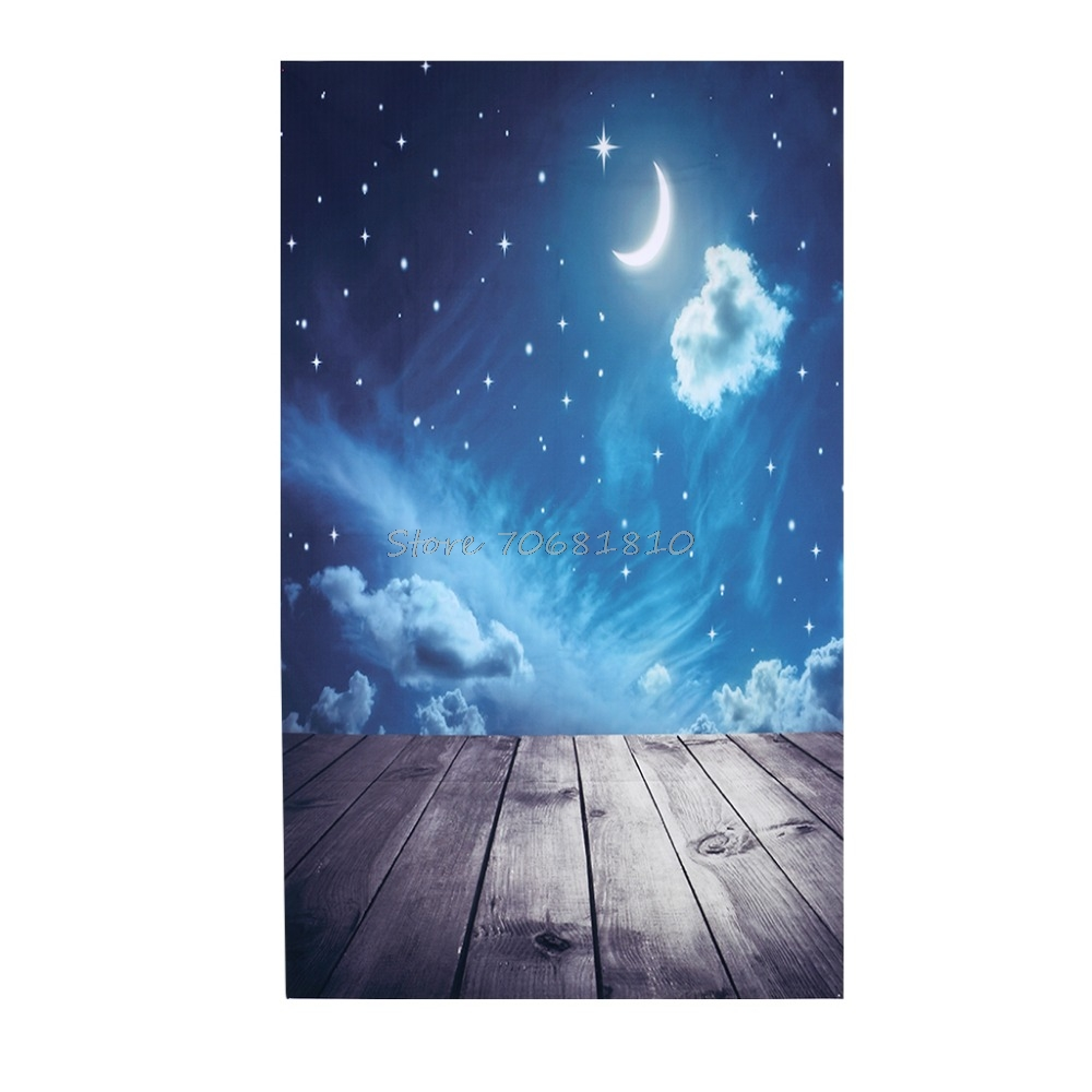 Moon Star Cloud Photo Background Vinyl Studio Photography Backdrops Prop DIY #R179T# Drop shipping 300cm 300cm vinyl custom photography backdrops prop digital photo studio background s 4748