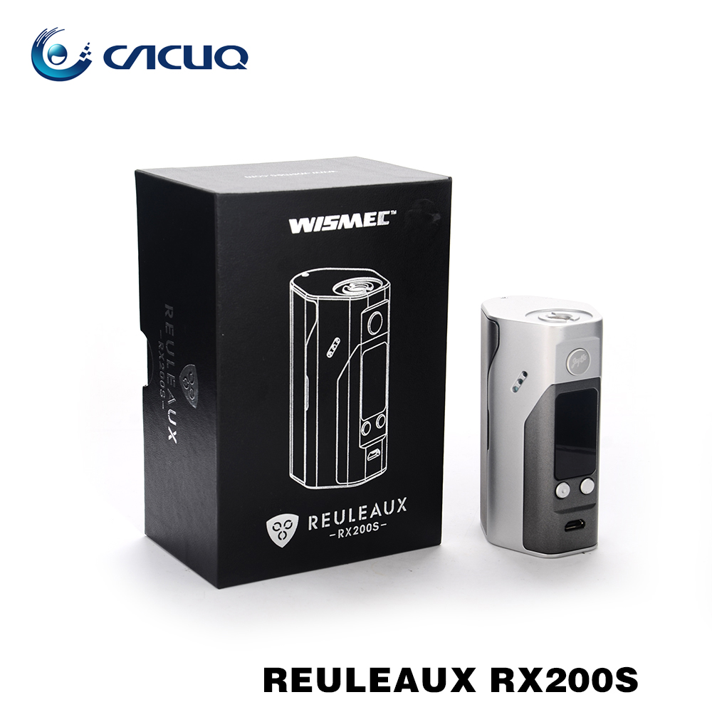 ФОТО 100% Original Wismec Reuleaux RX200S TC 200W OLED Screen Box Mod with Upgradeable Firmware Reuleaux RX200S