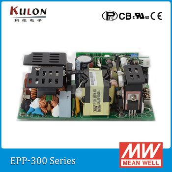 Original Meanwell EPP-300-12 300W 12V 25A mean well EPP-300 open frame Power Supply with PFC