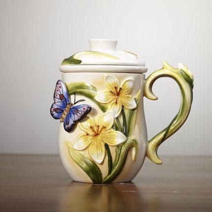 Hot filtre net thé tasse thé net papillon café tasse thé livraison gratuite