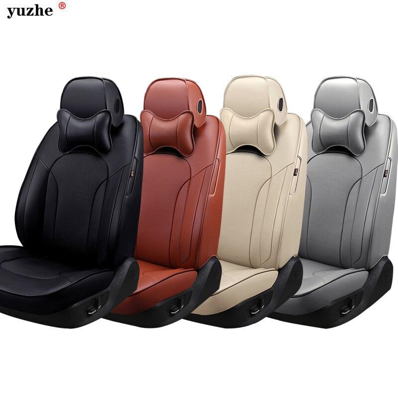 Custom Cowhide Leather car seat cover For Skoda Octavia 2 a7 a5 Fabia Superb Rapid Yeti Spaceback Joyste car accessories styling