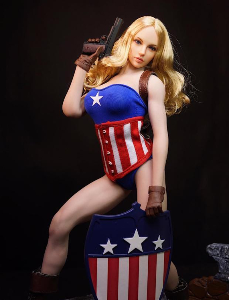 1:6 Scale Super Duck Sexy Captain America Girl Cloth Set Model For 12 Action Figure Body