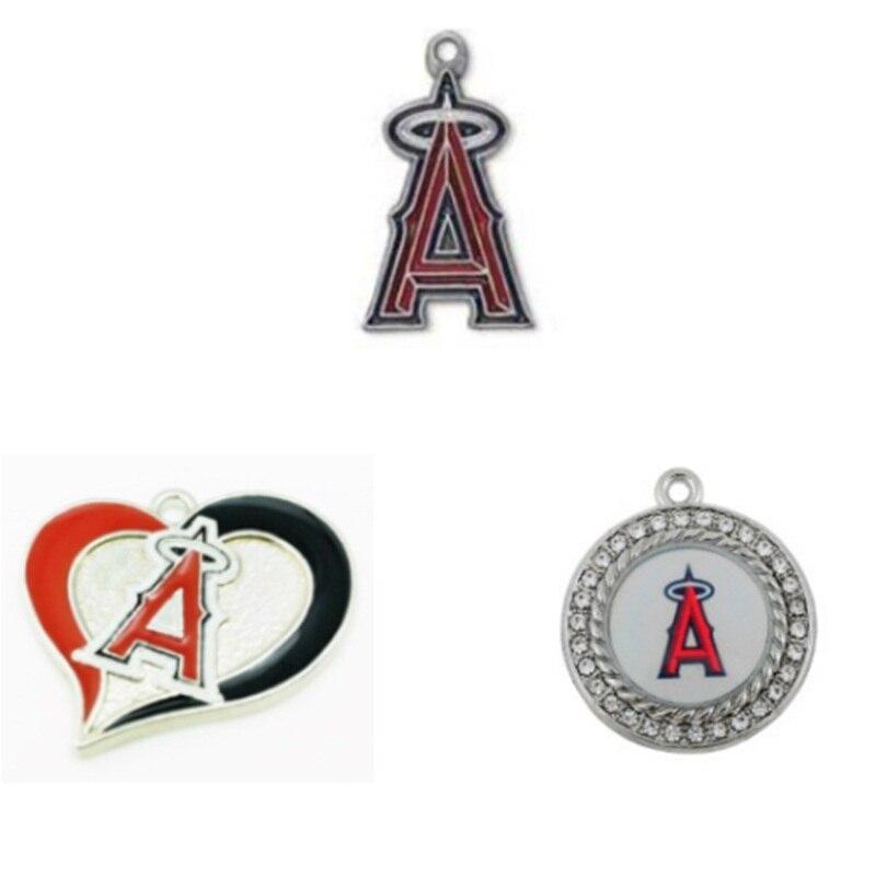 Новые эмали Лос-Анджелес Энджелс Бейсбол команда кулон Талисманы для DIY Для женщин Цепо ...
