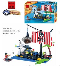 Enlighten 302 Sunken Boat Pirates Sea Drift Floating on the Sea Minifigure 2016 Assemble Building Block   Toys
