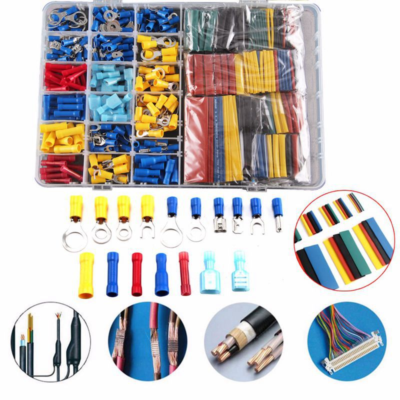 Image 5 - 558pcs Heat Shrink Tube Sleeving Kit Set Car Wire Electrical Terminals Crimp Connectors with Plastic Box-in Terminals from Home Improvement