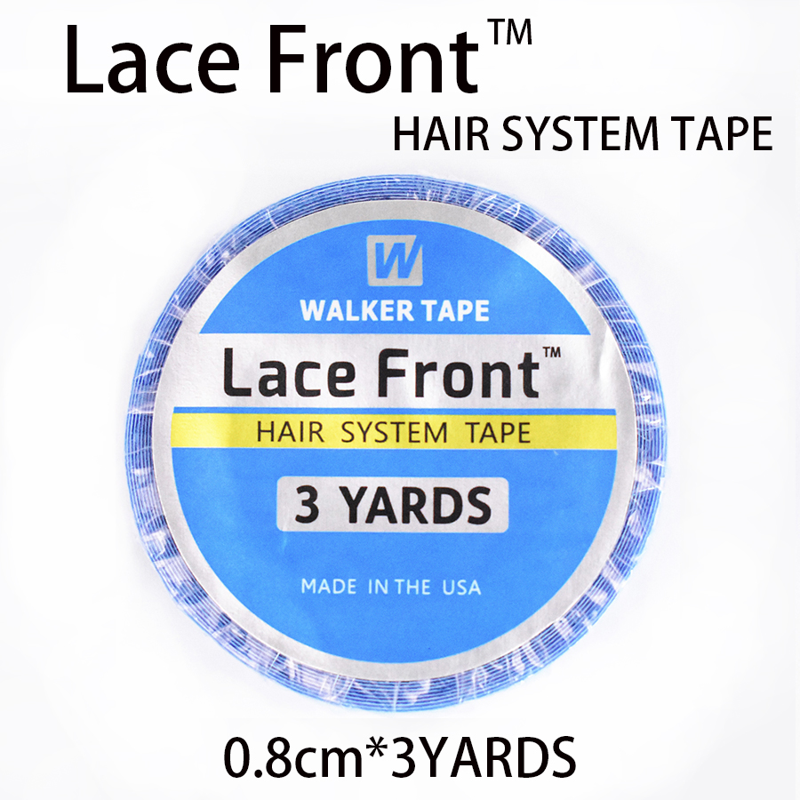 Humor 0.8cm*3yrads Blue Wig Lace Front Support Double-sided Adhesives Tape For Lace Wig/pu Hair Extension/toupee Adhesives