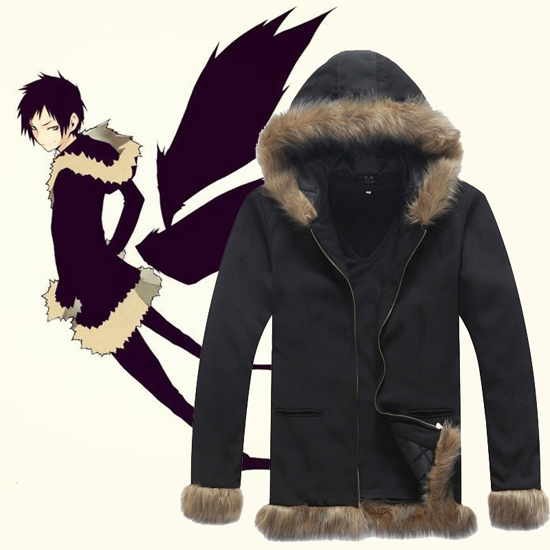 timeless design eef65 48533 US $35.0 |Anime Durarara Izaya Orihara Cosplay Costume Nero Cappotto Giacca  FANTASIA Felpa da Uomo Outwear Giacche Cappotto-in Costumi Anime da Novità  ...