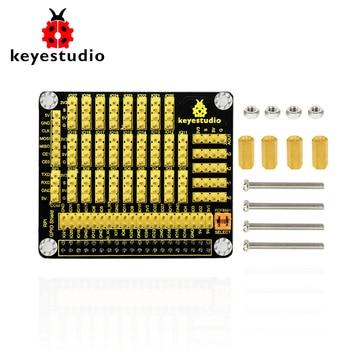 Keyestudio RPI GPIO PCF8591 AD/DA  Shield Expansion Board for Raspberry Pi 4B /CE certification element14 pi face digital i o expansion board for raspberry pi green