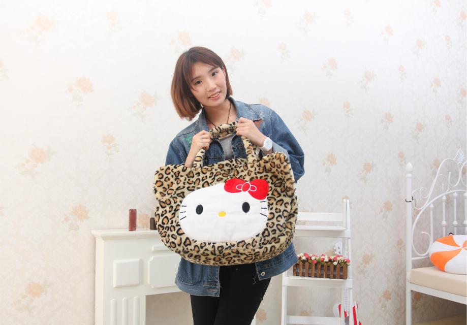 Cartoon Hello Kitty Melody Plush Bag Shoulder Bag Handbag Woman Bag Girl Birthday Gift 1pc