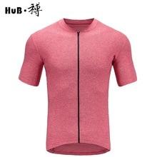 HuB Pink Cation Cycling  Jersey With Pocket YKK Zipper Bike Short sleeve mtb road Bicycle T-Shirt Clothing Racing maillot