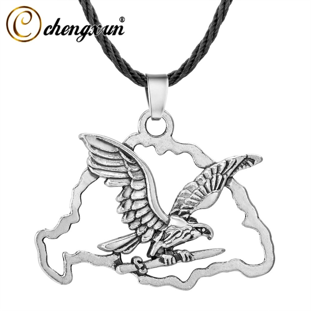 Toggle Chain Mens Silver Gothic Medieval Celtic Stainless Steel Cross Necklace