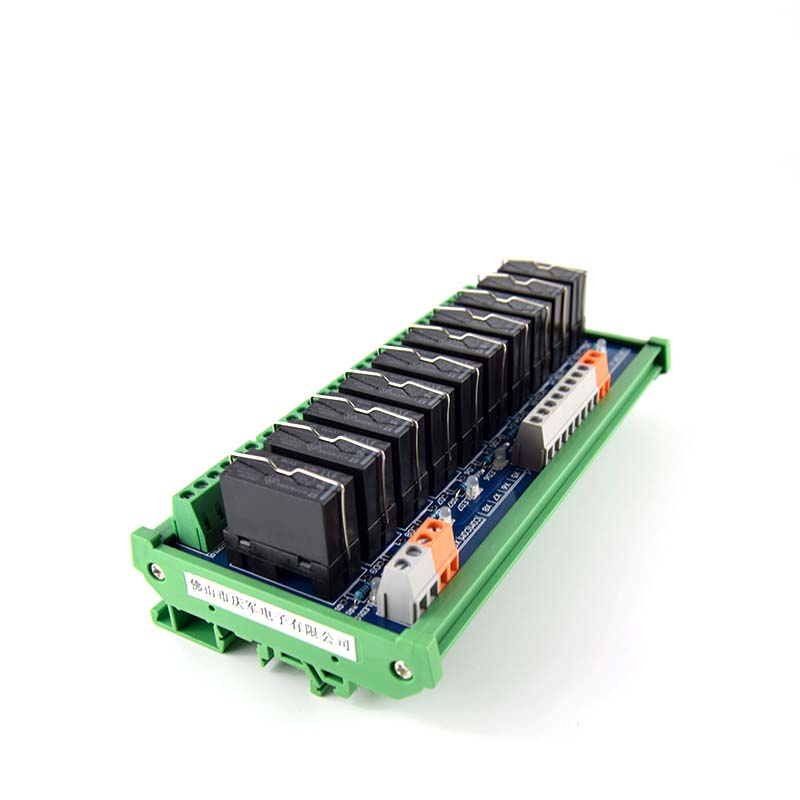 10-way original Fujitsu relay module, 24V module with rail mounting PLC controller plc amplifier board 16 way intermediate relay module plc expansion board belt guide rail high or low trigger 5 12 24v optional