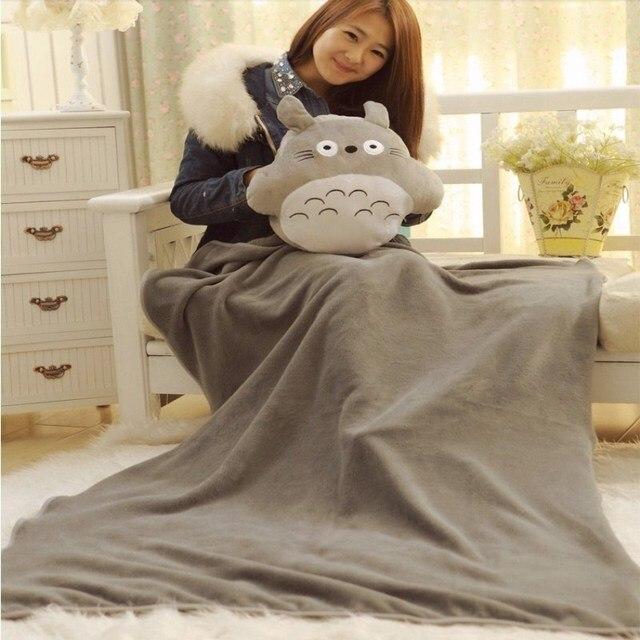 Круглая кукла Тоторо Подушка 33*38 см, одеяло 95*75 см детское одеяло милые плюшевые игрушки Рождество Подарок Подушка для взрослых