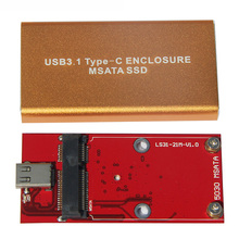 Высокая Скорость 6 ГБ/сек. USB 3.1 Type-C для mSATA SSD Корпус для ПК настольный компьютер USB express mSATA адаптер