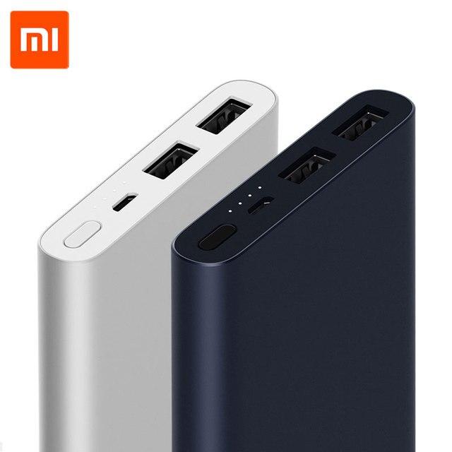 Nueva llegada Xiao mi 10000 mAh Banco 2 Batería Externa salida USB doble carga rápida de dos vías 18 w Max para Android IOS teléfono