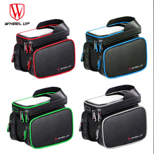 6.2 Inch Bicycle bag touch screen waterproof phone mountain bike tube on the front