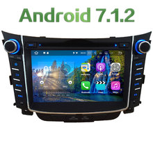 "7"" 2GB RAM Android 7.1.2 Quad Core 4G WiFi DAB+ RDS Multi Car DVD Player Radio Stereo GPS Navi Screen For Hyundai I30 2011-2016"