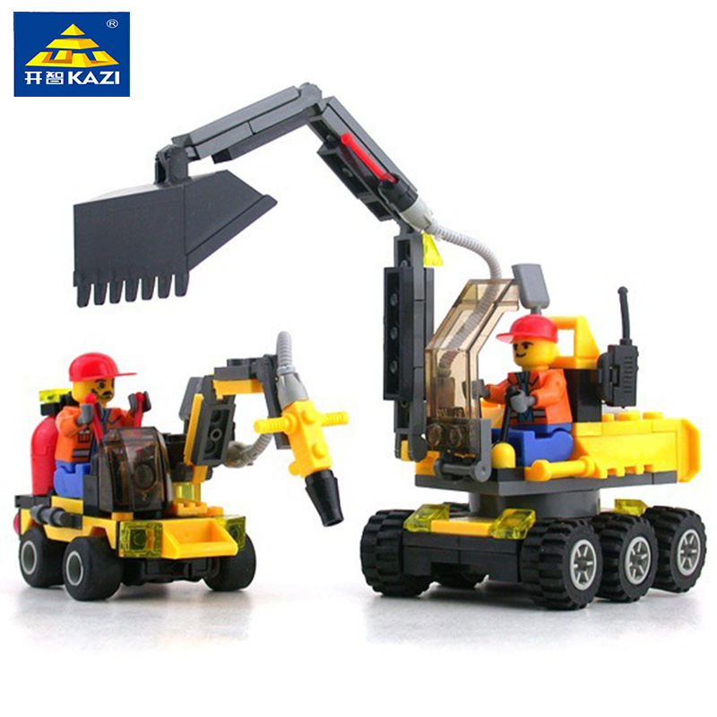 KAZ 6092 City Worker Building Blocks educational toys building blocks compatible with famous brand brick heads toys for children