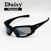 a9c2626acd Transition Photochromic Polarized Daisy X7 Military Goggles Army Sunglasses  4 Lens Kit War Game Tactical Men s Glasses Sports