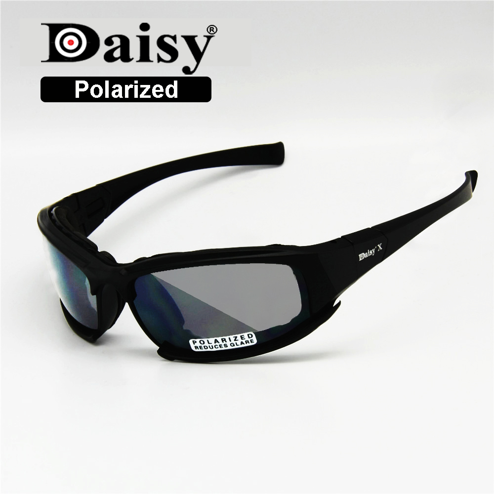 Transition Photochromic Polarized Daisy X7 Military Goggles Army Sunglasses 4 Lens Kit War Game Tactical Men's Glasses Sports