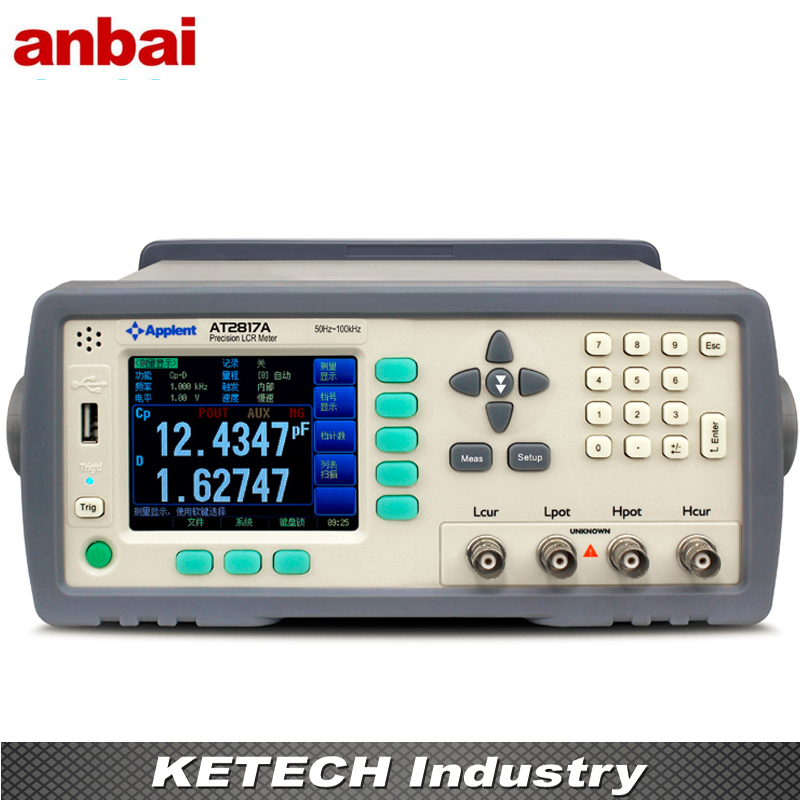 AT2817A Applent Digital LCR Meter Tester Signal Level (0.01V to 2.00V) (50Hz~100kHz 16 points) lutron lcr 9083 digital lcr meter