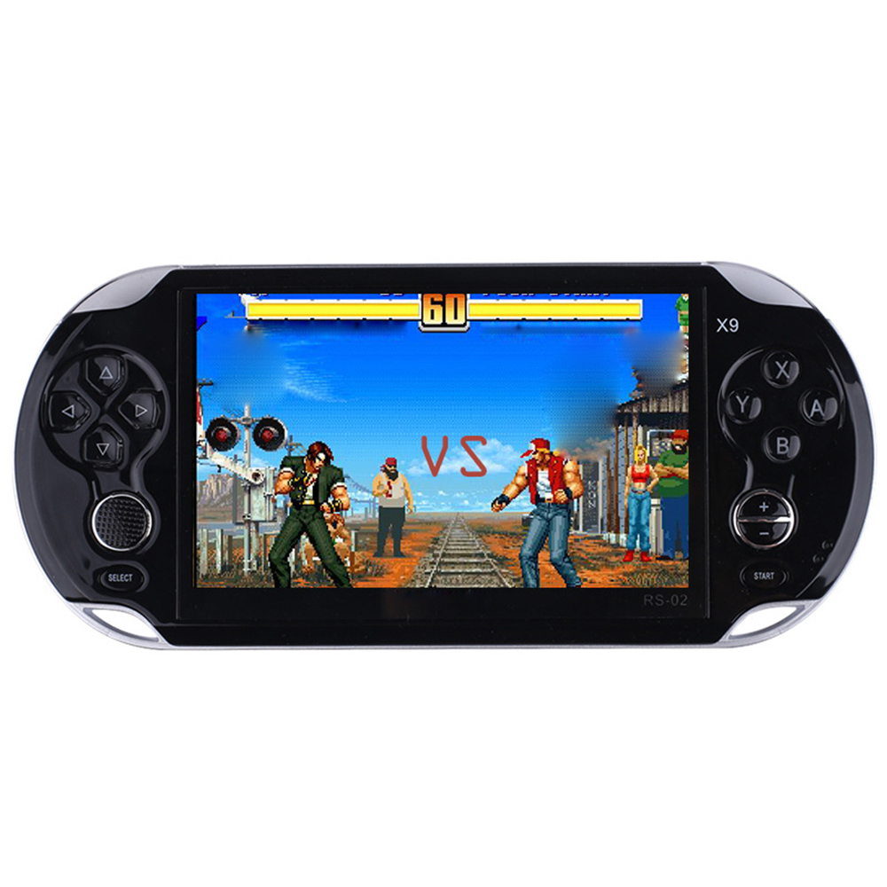 RS X9 Handheld game players 5 0 inch screen video game console built in 9463 classic