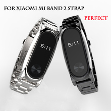 Metal Strap For Xiaomi Mi Band 2 Bracelet Belt For Xiaomi Miband 2 Strap Replacement OLED Display Wristbands Black Silver Golde