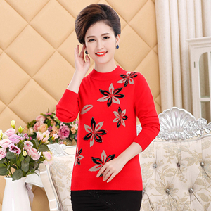 M-4XL свитер женский осенний джемпер с длинными рукавами трикотаж плюс размер невысокая горловина свитера для женщин - Цвет: Красный