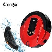 Arnagar Q1 Мини робот пылесос для дома, две боковые щетки, сухая  и мокрая уборка, автоматическая зарядка, умный робот пылесос