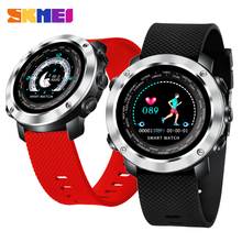 SKMEI Smart Digital Watch Men Women Bluetooth Heart Rate Monitor Fitness Calories Color Screen Waterproof Wristwatch relogio W30