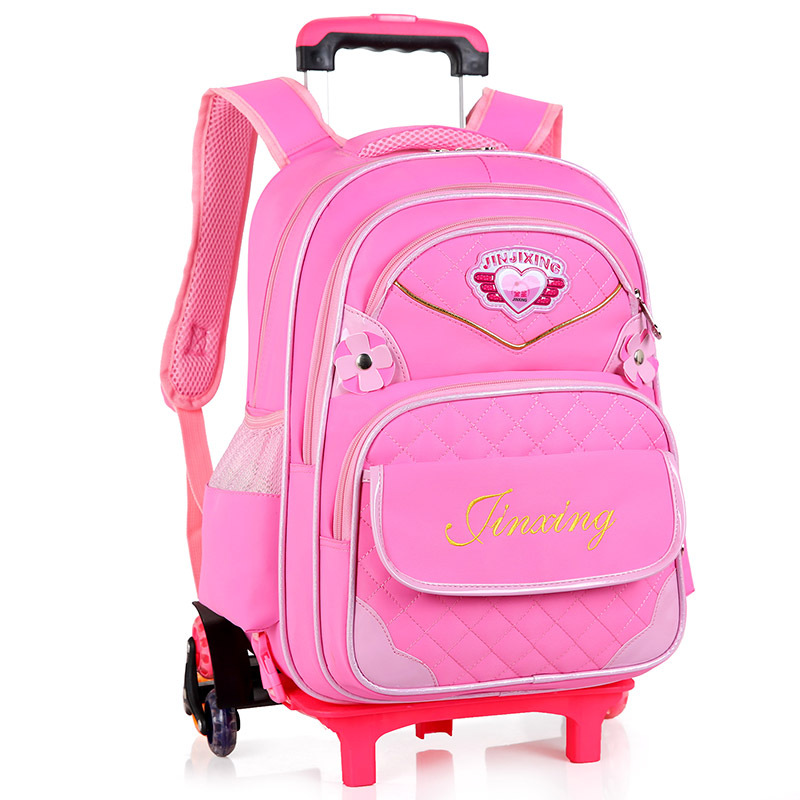 где купить Removable Trolley school Backpack Wheeled Bags Children School Bag Boys girls Travel Bags Child School Backpacks kids schoolbags по лучшей цене