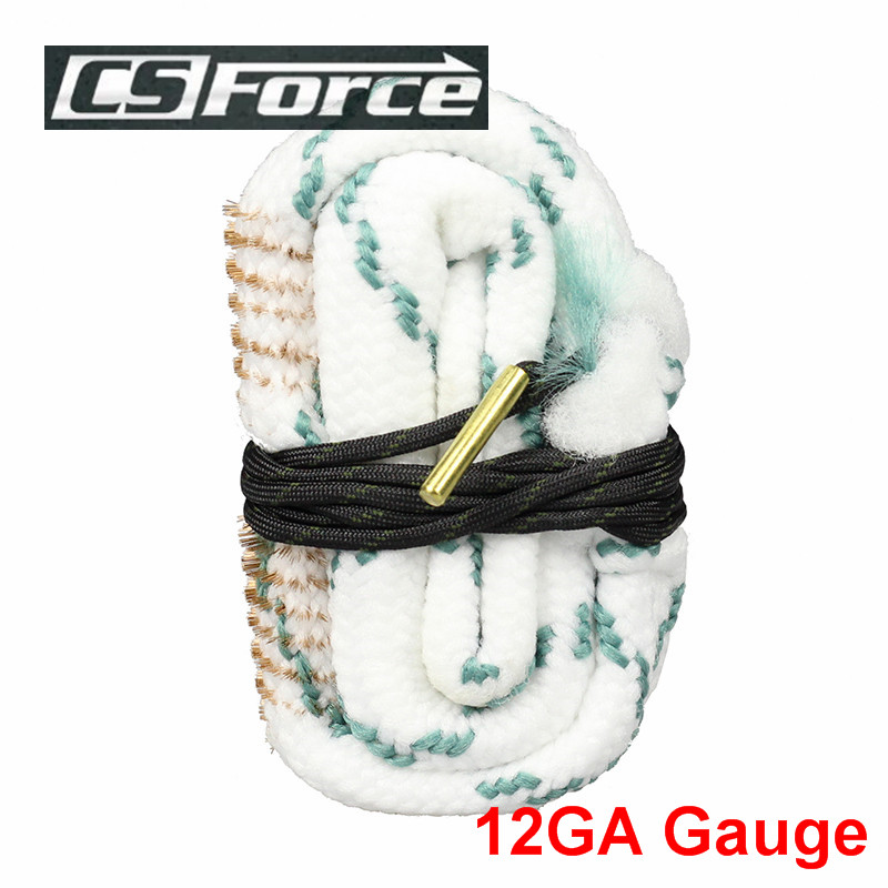 Tactical Gun Barrel Cleaning Rope 12 GA Rifle Pistol Cleaning Brush Gun Cleaning Kit Shotgun Bore Snake Hunting Accessories