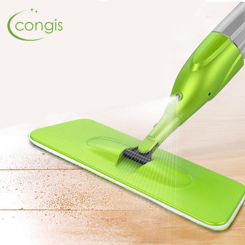 Congis 1 st Magic Spray Mop Hoge Kwaliteit Microfiber Doek Vloer Ramen Schoon Mop Thuis keuken Badkamer Gewijd Cleaning Tools