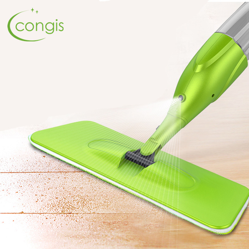 Magic Spray Mop Microfiber Cloth Floor Windows Clean Mop: Congis 1PC Magic Spray Mop High Quality Microfiber Cloth