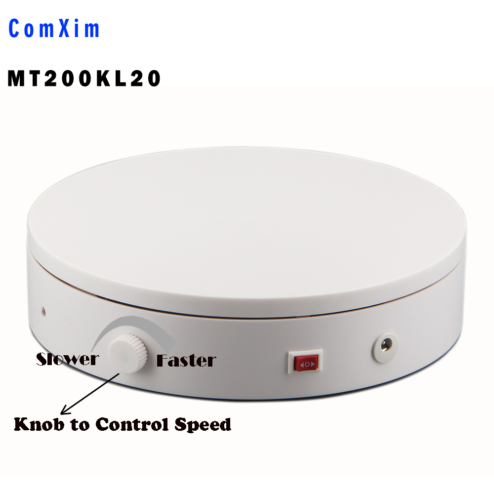 200KL20F 360 Product intelligent Turntable for Photography , making video Jewelry OR Product Display with heavy load US Plug intelligent electric turntable for 360 photography speed