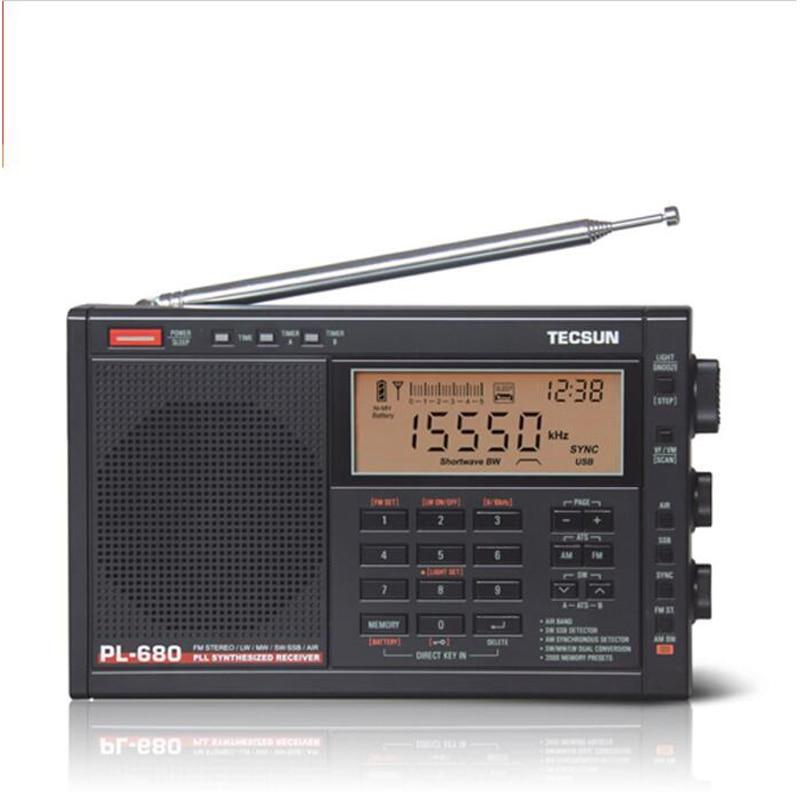 Tecsun PL-680 High Performance Full-Band Digital Tuning Stereo Radio FM AM Radio SW SSB 5pcs pocket radio 9k portable dsp fm mw sw receiver emergency radio digital alarm clock automatic search radio station y4408