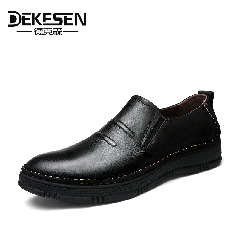 Dekesen Size 36-47 Casual shoes Mens Handmade Genuine Leather Flats Men's Boat Shoes High Quality Loafers Brand Driving Shoes xizi quality genuine leather men loafers 2017 designer soft breathable casual mens leather suede flats boat shoes