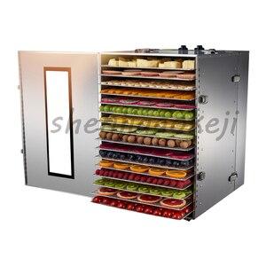 16 layers Dehydrators fruit vegetable dehydration machine air dryer dried fruit machine Commercial food dryer 220v 1000w 1PC|Dehydrators|   -