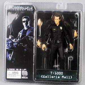 """Image 3 - NECA figura de acción de Terminator 2, caja nueva, envío gratis, T800, Cyberdyne, Showdown, juguete de figura de PVC, 7 """", 18cm"""