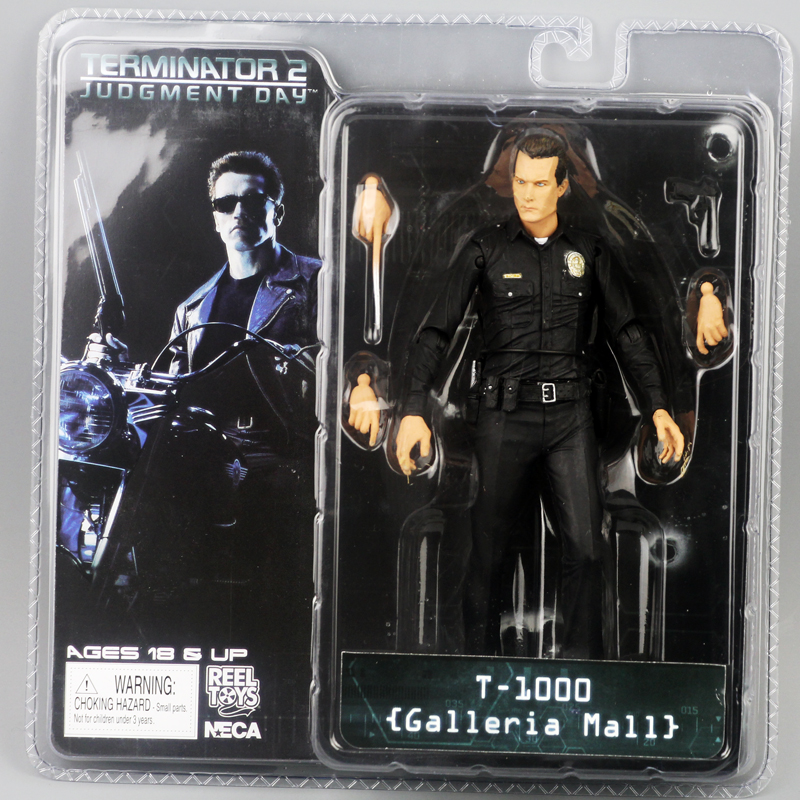 "Image 3 - New Box Free Shipping NECA The Terminator 2 Action Figure T800 Cyberdyne Showdown PVC Figure Toy 7""18cmfigure toytoys free shippingterminator 2 -"