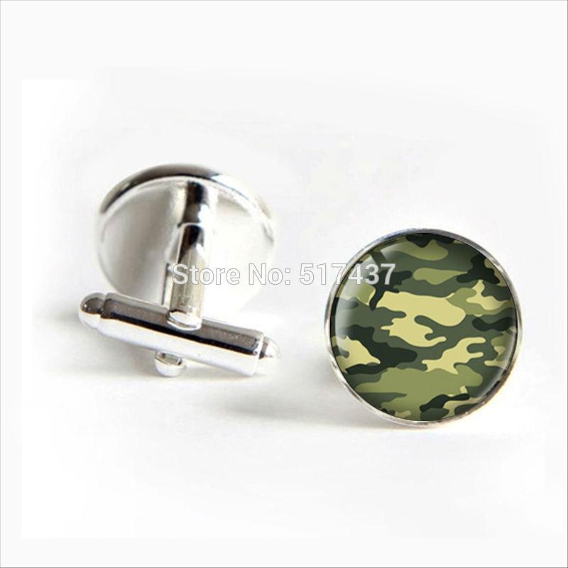 2018 New Fashion Military Pattern Cufflinks Military Cuff Link Hunting Cufflinks For Mens Brand Cuff Button